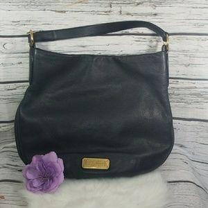 Marc Jacobs black leather large shoulder handbag